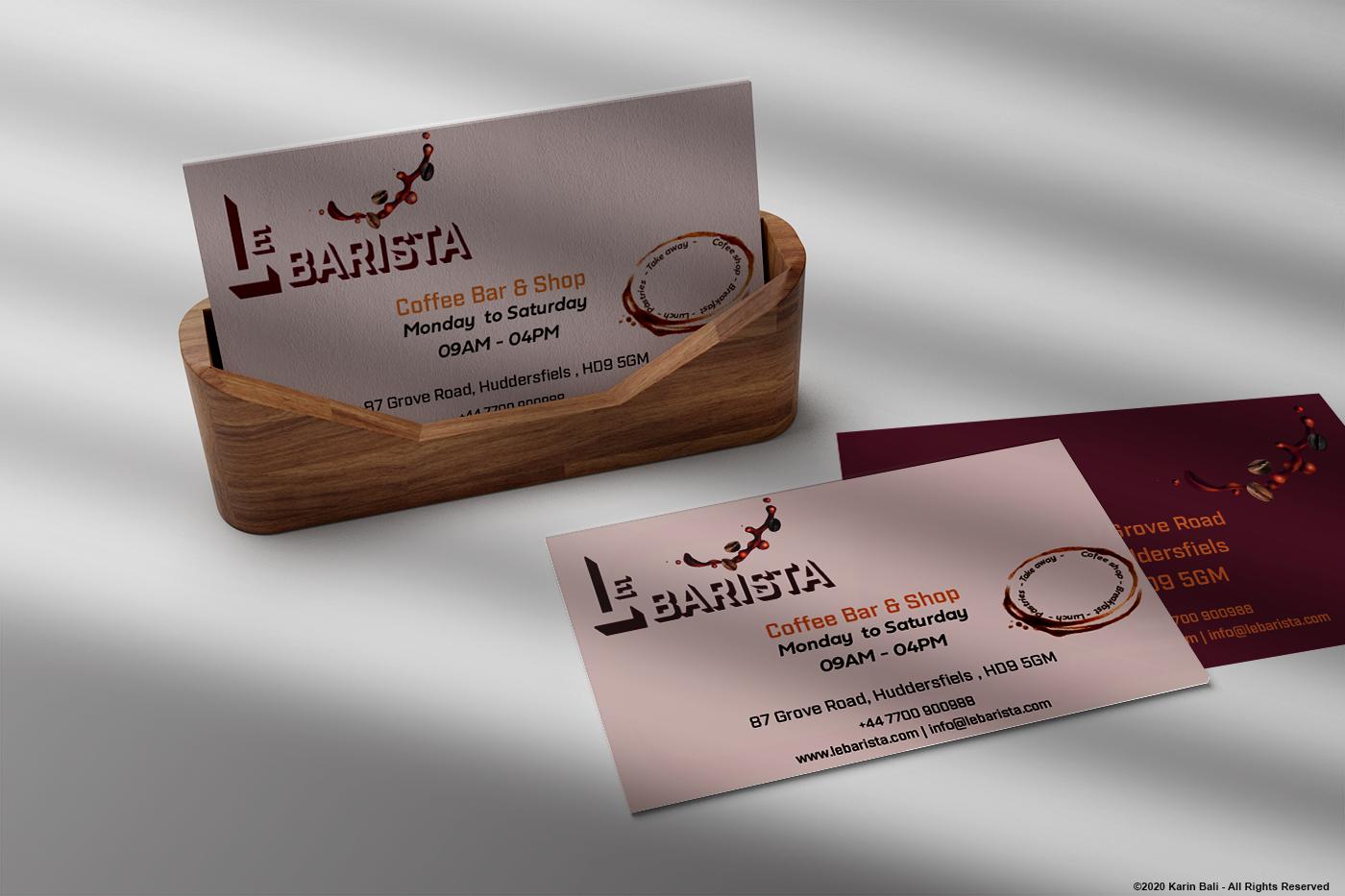 Le Barista Business Cards
